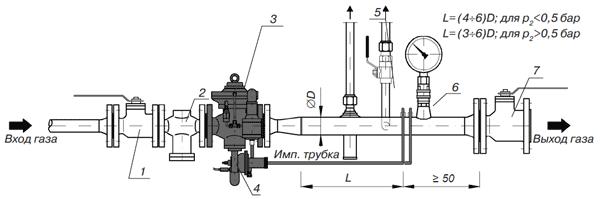 Регулятор низкого давления без и с предохранительно-запорным клапаном GasTeh 135, 135-BV
