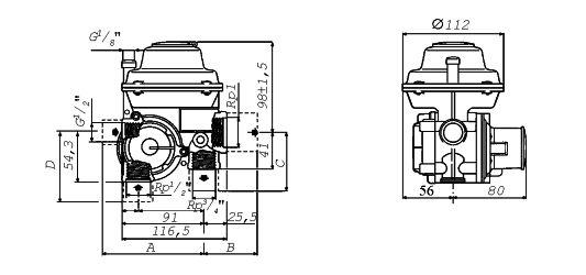 Манометр ЭДМУ-15 с гибким шлангом