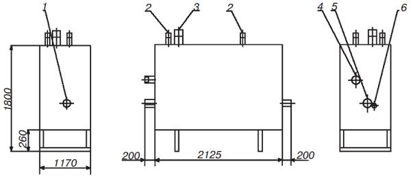 Габаритный чертеж газорегуляторнойустановки (ГРУ)*