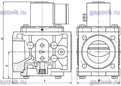 Клапан электромагнитный ВН3/4Н-4П двухпозиционный муфтовый с датчиком положения