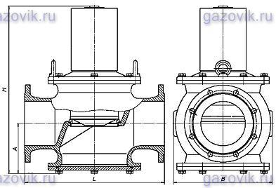 Клапан ВН 8Н-1К чугун