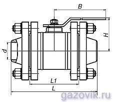 Кран шаровой фланцевый цельносварной ЯГТ 50ФС.А