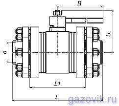 Краны шаровые фланцевые цельносварные ЯГТ 50-100ФС.А
