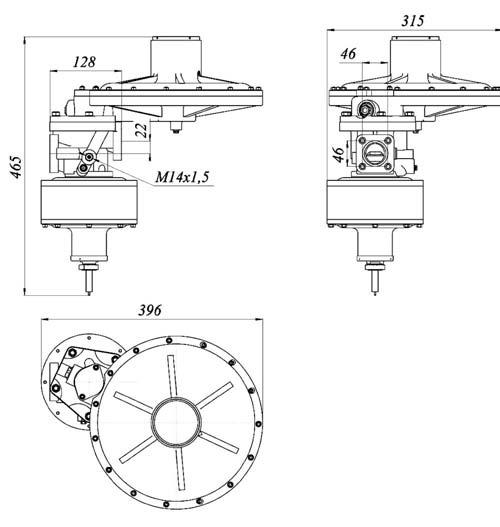 Регулятор давления газа комбинированный РДК-800К