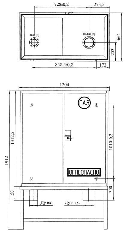 Габаритный чертеж установки ШБДГ-800-2К